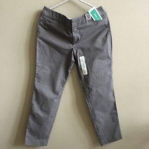 NWT Old Navy Grey Pixie Pants Size: 10 Regular